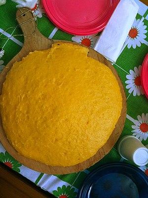 Mush (cornmeal) - Image: Cornmeal mush