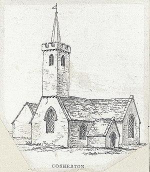Cosheston - 1830 engraving of the church