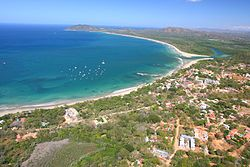 Costa Rica Playa Tamarindo and Grande 2007 aerial photograph tamarindowiki.JPG