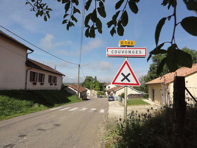 Couvonges (Meuse) city limit sign