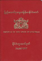Visa Requirements For Myanmar Citizens Wikipedia