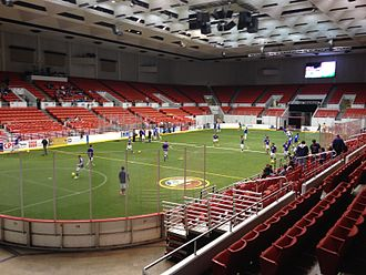 Cox Business Center - Tulsa Revolution warmups at Cox Business Center on November 22, 2014.