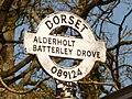 Cripplestyle, detail of Batterley Drove signpost - geograph.org.uk - 1741237.jpg
