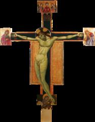 Crucifix peint