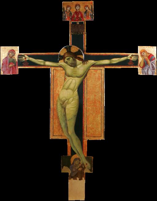 Crocifisso dipinto, Chiesa di sant'Angelo al Cassero (Pinacoteca), Castiglion Fiorentino
