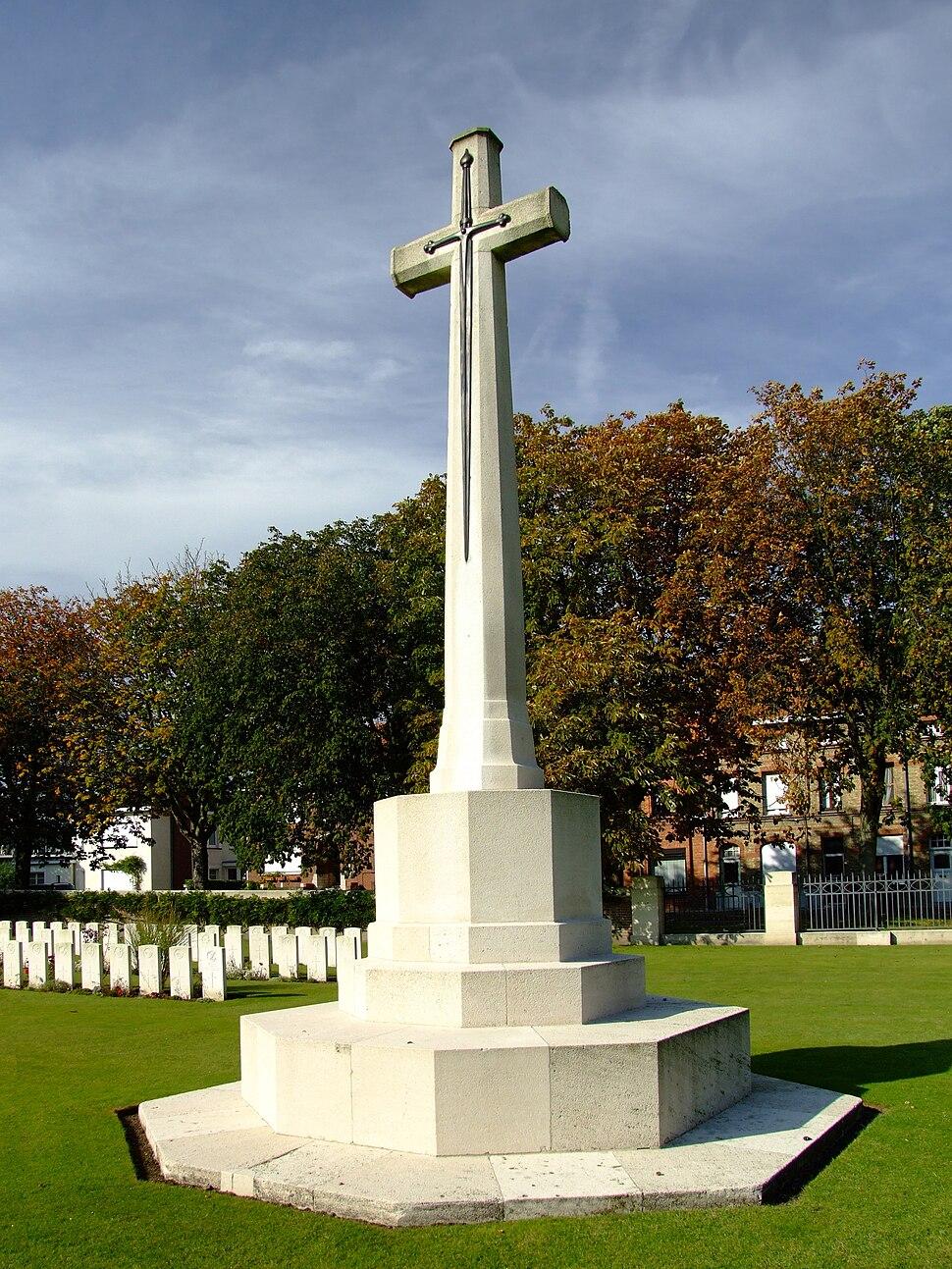 Cross of Sacrifice, Ypres Reservoir cemetery