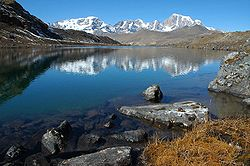 Sikkim in India, a high Himalayan lake at an altitude of around 5'000 meters