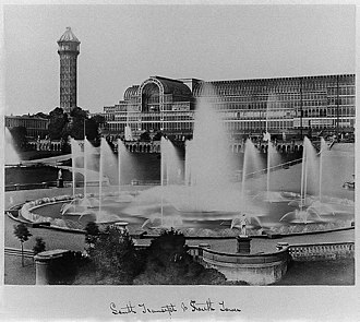 Philip Henry Delamotte - The fountains at The Crystal Place at Sydenham