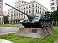 Cuban SU-100 Model 1969 tank destroyer at the Museum of the Revolution, Cuba 2.jpg