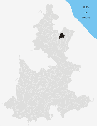 Cuetzalan - Location of Cuetzalan in Puebla
