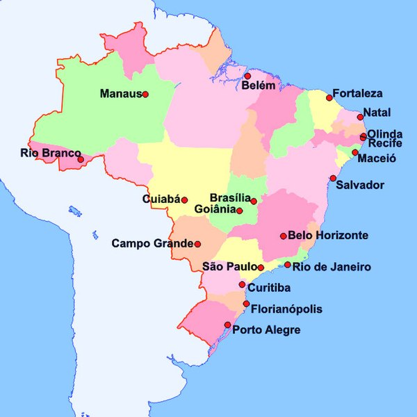 BRAZIL FIFA World Cup Page SkyscraperCity - Map of brazil with cities