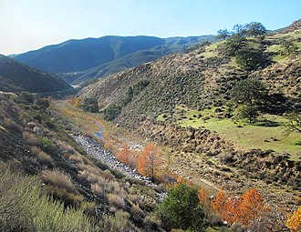 Cuyama River - Cuyama River upstream of Twitchell Reservoir