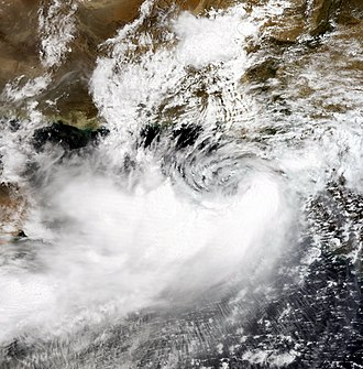 Pakistan Meteorological Department - A cyclone system entering in Pakistan, 2007.
