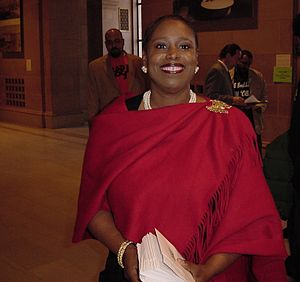 Cynthia McKinney - Cynthia McKinney before speaking at the Green Party Presidential Debate in San Francisco, January 2008