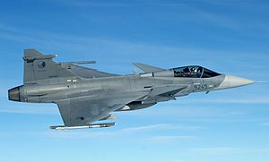Czech Air Force - A Czech Air Force JAS-39C Gripen at cruising altitude