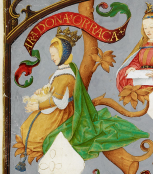 Urraca of Castile, Queen of Portugal - Urraca in Genealogy of the Kings of Portugal (António de Holanda, 1530–1534)