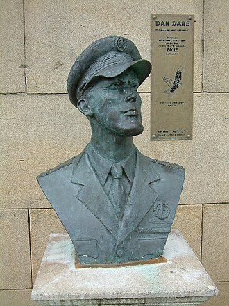 Eagle (British comics) - A bust of Dan Dare, in Southport