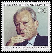 Wiily Brandt Gedenkmarke