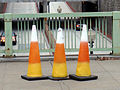 DIABETIK - traffic cones in candy corn striping.jpg