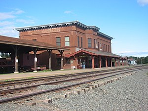 National Register of Historic Places listings in Lake County, Minnesota - Image: DMIR Depot 004