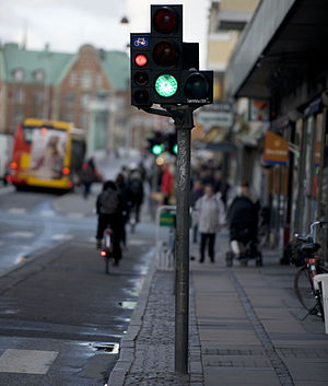 Cycle track - Image: DNK bicycle light 1