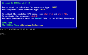 DOSBox - Image: DOS Box screenshot