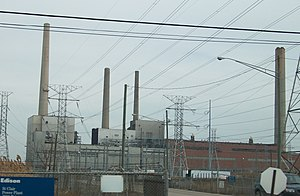 The Thumb - Detroit Edison's St. Clair Power Plant, once the largest in the world.