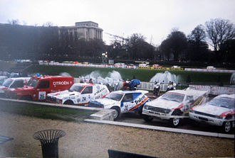 Dakar Rally - Cars on display in 1993 in Paris