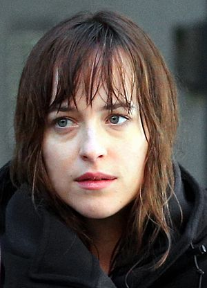 Dakota Johnson - Johnson on the set of  Fifty Shades of Grey in January 2014