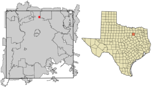 Alpha, Texas - Image: Dallas County Texas Alpha highlighted