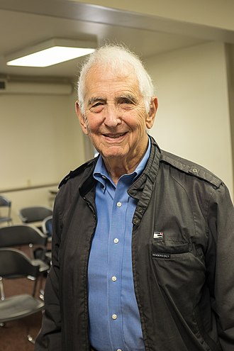 The leak of the Pentagon Papers by Daniel Ellsberg (pictured here in 2018) led to New York Times Co. v. United States (1971), a landmark press freedom decision. Daniel Ellsberg.jpg