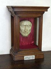 A recreated death mask of Dante Alighieri (in Palazzo Vecchio, Florence).