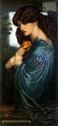 """Proserpine"" by Dante Gabriel Rosetti, taken from Wikimedia Foundation"