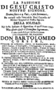 Davide Perez - La passione - titlepage of the libretto - Palermo 1742.png