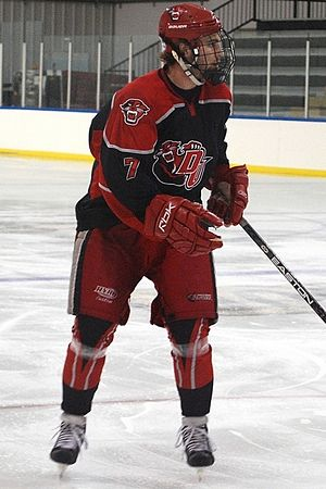 Davenport Panthers - DU hockey player in an away uniform (2010).