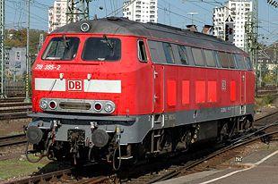 Lok der Baureihe 218 in Stuttgart
