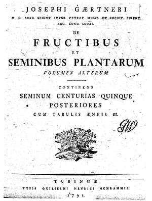 De Fructibus et Seminibus Plantarum - Frontispiece of De Fructibus et Seminibus Plantarum