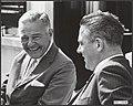 De speciale vertegenwoordiger van president Johnson, H. Cabot Lodge, wordt op he, Bestanddeelnr 084-0146.jpg