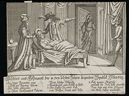 Deathbed patient, represents death of Venetian Republic Wellcome L0034615