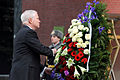 Defense.gov News Photo 110322-D-XH843-005 - Secretary of Defense Robert M. Gates lays a wreath at the Tomb of the Unknown Soldier in Moscow, Russia, on March 22, 2011.jpg