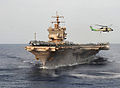 Defense.gov News Photo 110607-N-JL826-263 - An HS-60B Sea Hawk helicopter assigned to Helicopter Anti-submarine Squadron 11 takes off from the aircraft carrier USS Enterprise CVN 65 as the.jpg