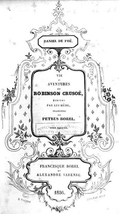 Robinson Crusoe Borel Texte Entier Wikisource