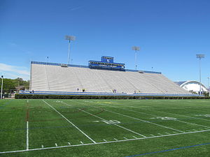 Delaware Stadium - A view of the interior of Delaware Stadium facing the home stands.