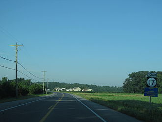 Delaware State Route System - DE 17 southwest of Roxana