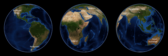 Alcuni dei più grandi deserti della Terra