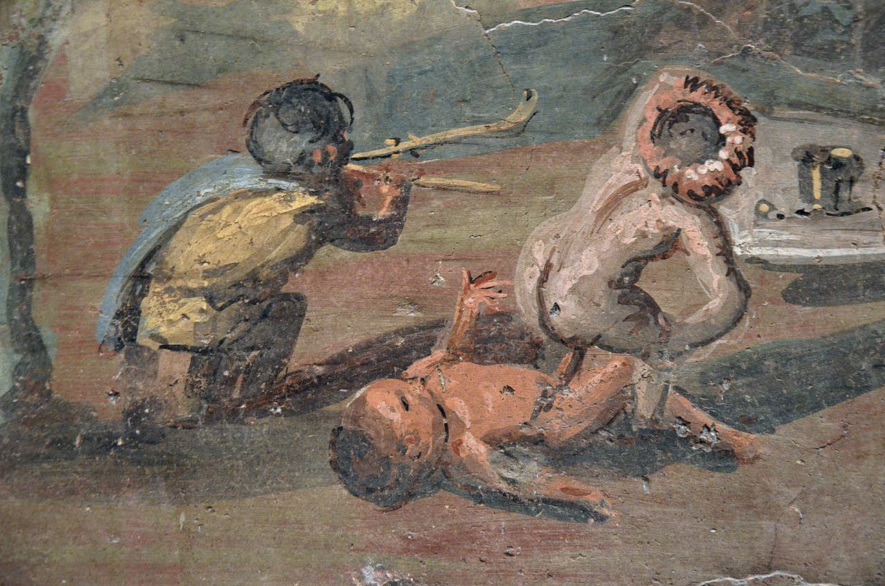 File Detail Of A Fresco Depicting Nilotic Landscape With