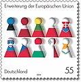 Deutsche Briefmarke zur Erweiterung der EU 2004.jpg