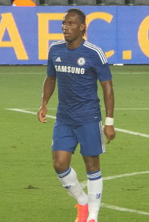 2005 Football League Cup Final - Didier Drogba, who scored Chelsea's second goal in the match.