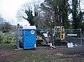Digger and loo - geograph.org.uk - 1342317.jpg
