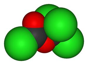 Diphosgene - Image: Diphosgene 3D vd W